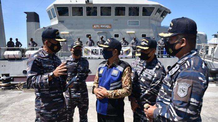 TNI AL Pastikan Posisi KMP Yunicee Tidak Menggangu Jalannya Alur Penyebrangan