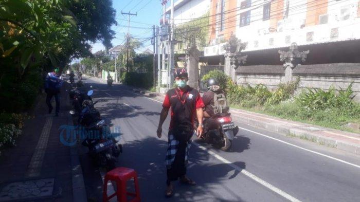 Wajib Pakai Masker Saat Masuk Wilayah Renon Denpasar, Sembilan Pintu Masuk Dijaga Pecalang