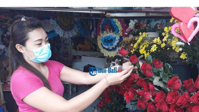Penjual Bunga Valentine di Denpasar Bali Tergencet Covid-19 dan PPKM