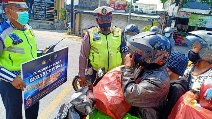 Perketat Arus Mudik Dari Wilayah Denpasar Selama 24 Jam, Motor Paling Banyak Diperiksa Petugas