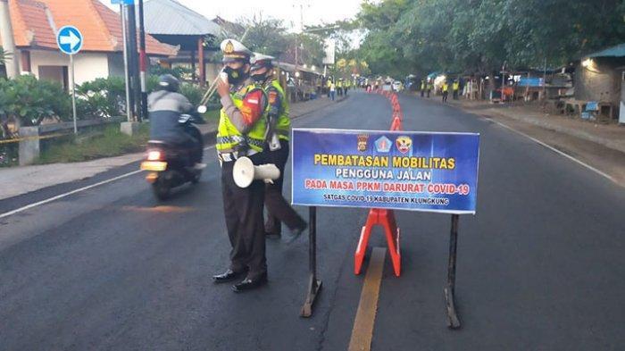 Penyekatan di Semua Pintu Masuk Menuju Klungkung, Sehari 819 Pengendara Diminta Putar Balik