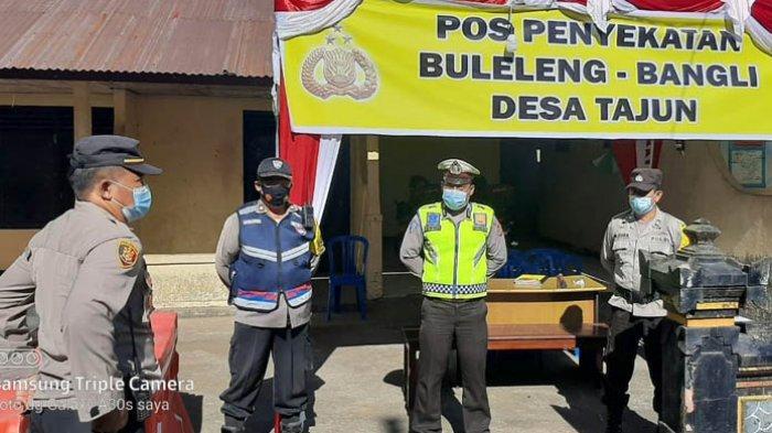 Polres Buleleng Bangun Lima Pos Sekat di Pintu Masuk untuk Mengawasi Para Pemudik