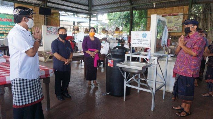 Pemkot Denpasar Terima Bantuan 50 Unit Wastafel, Akan Dipasang di Pasar Desa