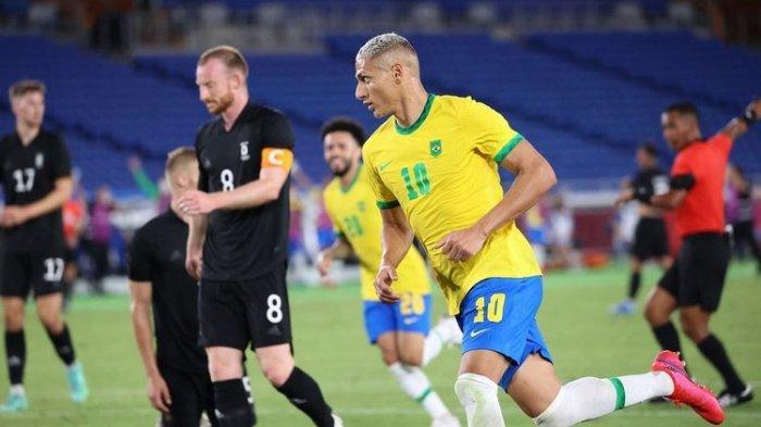 Prediksi Skor Brasil vs Pantai Gading di Olimpiade Tokyo 2021: Aksi Skill Pemain Everton vs AC Milan