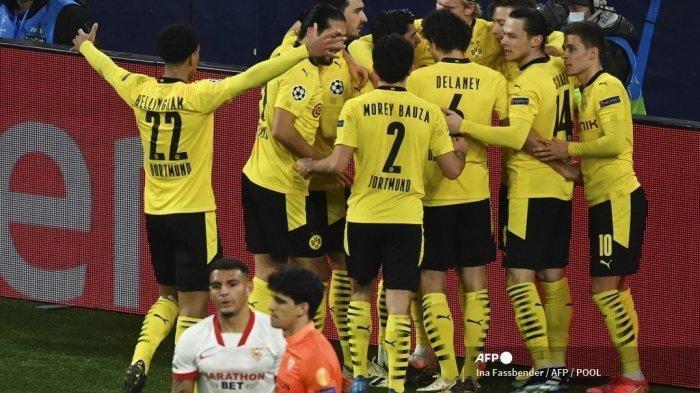Hasil Liga Champions Babak Pertama Borussia Dortmund vs Sevilla, Haaland Ciamik Timnya Unggul 1 Gol