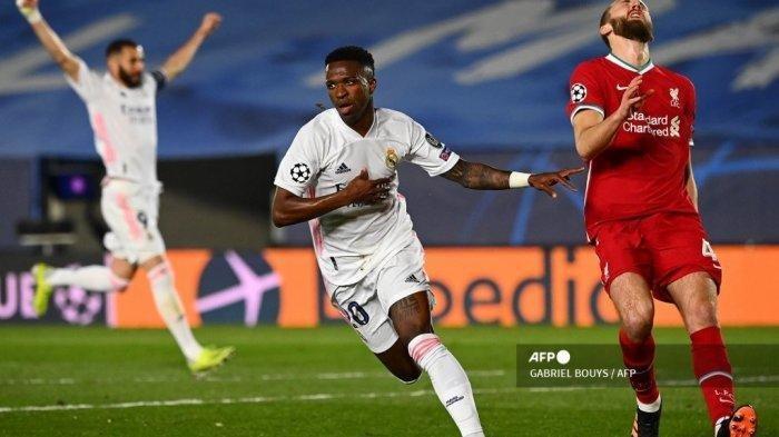 Update Hasil Real Madrid vs Liverpool: Los Blancos Ciamik, Vinicius Junior Jadi Mimpi Buruk The Reds