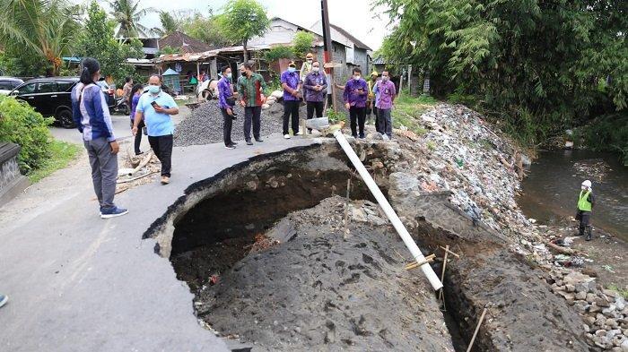 Perbaikan Jalan Jebol di Desa Gelgel Klungkung Habiskan Anggaran Rp95 Juta