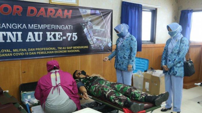 Peringati HUT ke-75 TNI AU , Lanud I Gusti Ngurah Rai Gelar Donor Darah dan Donor Plasma Konvalesen