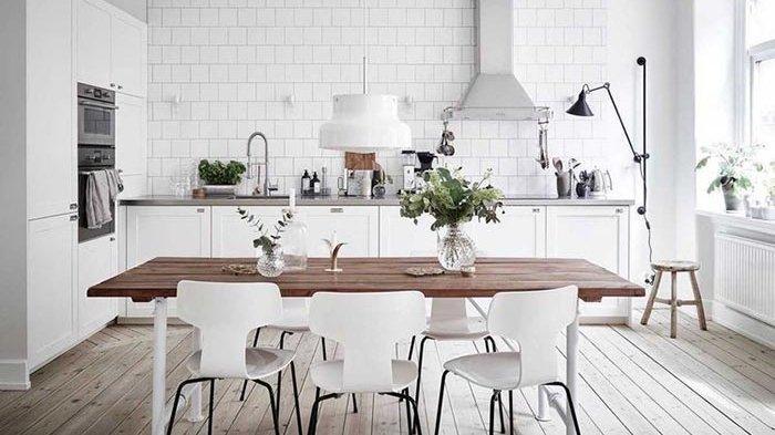 Super Cantik Dan Tak Lekang Zaman Ide Desain Dapur Minimalis Serba Putih Ini Bisa Dicoba Tribun Bali