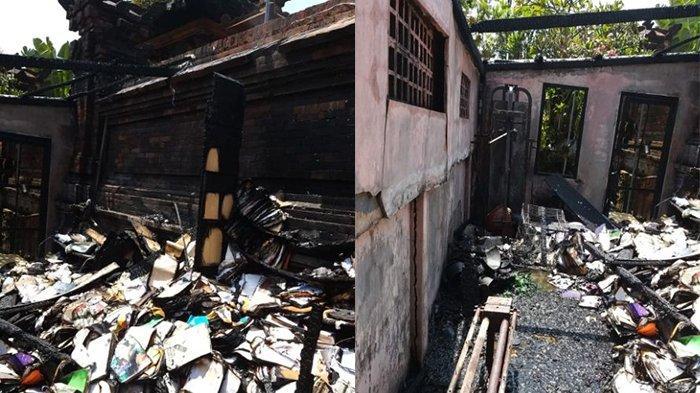 Ruang Buku di Puri Pemayun Ludes Terbakar Karena Korsleting Listrik