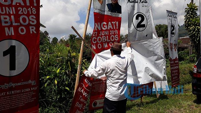 Pers Tour KPU Provinsi Bali Hari Kedua, Beberapa APK Ditemukan Roboh dan Hilang