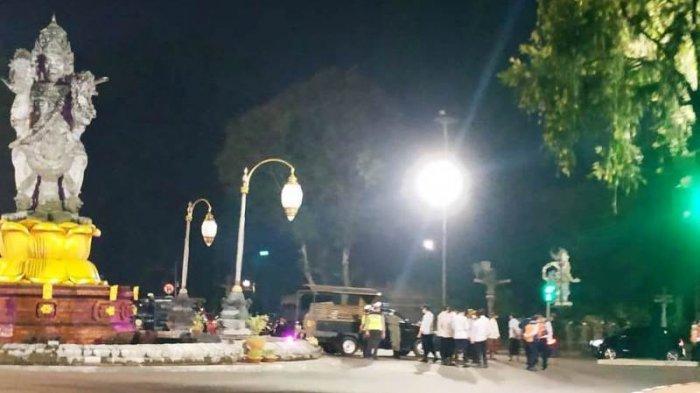 Malam Tahun Baru 2021, Begini Kondisi Titik Nol Kota Denpasar, Aparat Gabungan di Bali Patroli
