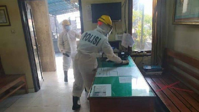 Satu Anggota Polsek Gianyar Positif Corona, Seluruh Mapolsek Disemprot Desinfektan