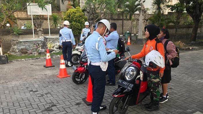 Satuan Polisi Militer AU Lanud I Gusti Ngurah Rai Gelar Sweeping & Sasar Anggota yang Begini