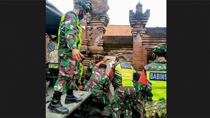 Dukung Pendisiplinan Prokes, Kodim 1610/Klungkung Pasang Wastafel di 4 Desa se-Kecamatan Dawan