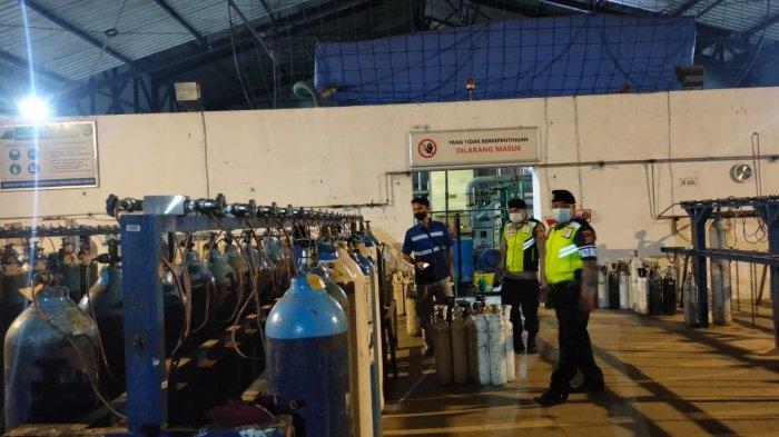 Polres Badung Tetap Pantau Produksi & Pendistribusian Oksigen PT Samator Meski Kasus Covid-19 Landai