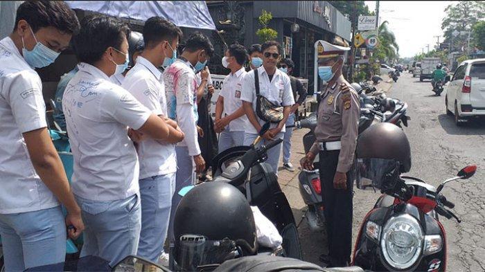 Konvoi Kelulusan Siswa SMK di Badung Dibubarkan Satlantas Polres Badung