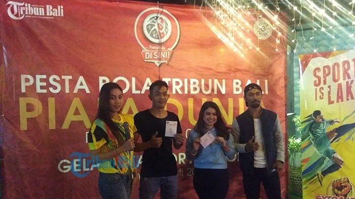 Pesta Bola Tribun Bali Gelar Nonton Bola Piala Dunia Bersama di Gelato Factory