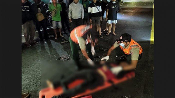 Laka Lantas di Simpang Jalan Gatsu-Nangka Denpasar, Seorang Remaja Terkapar dan Alami Luka-Luka