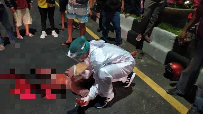 Kecelakaan Tunggal di Jalan Imam Bonjol Denpasar, Seorang Pemotor Tak Sadarkan Diri dan Muntah Darah