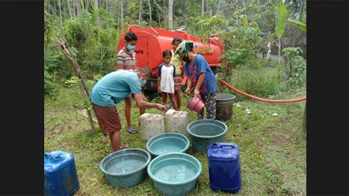 BPBD Karangasem Bersama ACT Distribusikan 10 Ribu Liter Air Bersih ke Desa Nawakerti