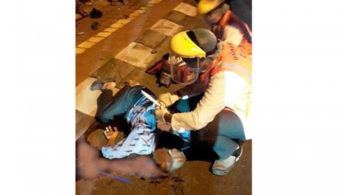 Pria Paruh Baya Alami Lakalantas di Kesiman Kertalangu Denpasar, Pendarahan Pada Hidung dan Mulut