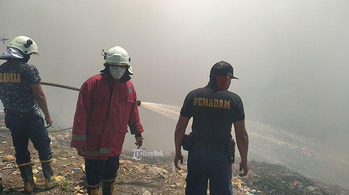 TPST Kapal Terbakar, Damkar:Padahal Sampah Tidak Dibakar namun Tiba-Tiba Ada Api
