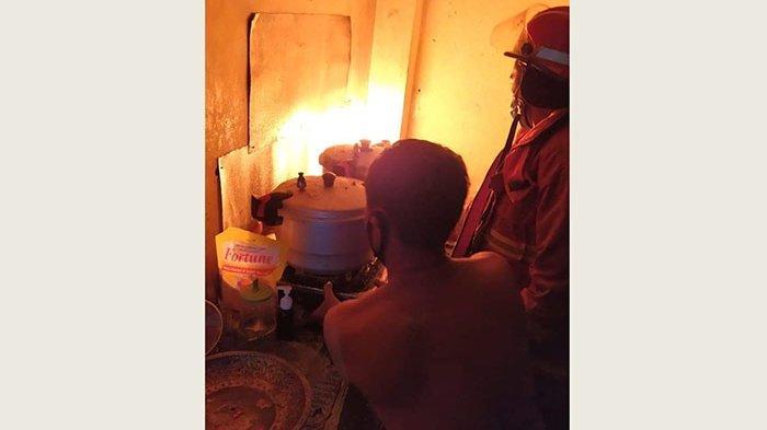 Api Menyambar Tabung Gas yang Bocor, Dapur Rumah Warga di Denpasar Terbakar