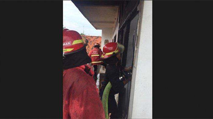 Tabung Gas Meledak, Rumah Dua Lantai di Panjer Denpasar Ludes Terbakar