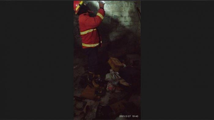 Nyalakan Lampu Lalu Terjadi Korsleting, Gudang Perkakas Milik Warga di Denpasar Ludes Terbakar