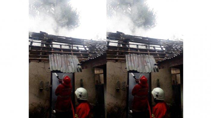 Tabung Gas Bocor, Dapur dan Rumah Suarta Hangus Dilahap Si Jago Merah di Karangasem Bali