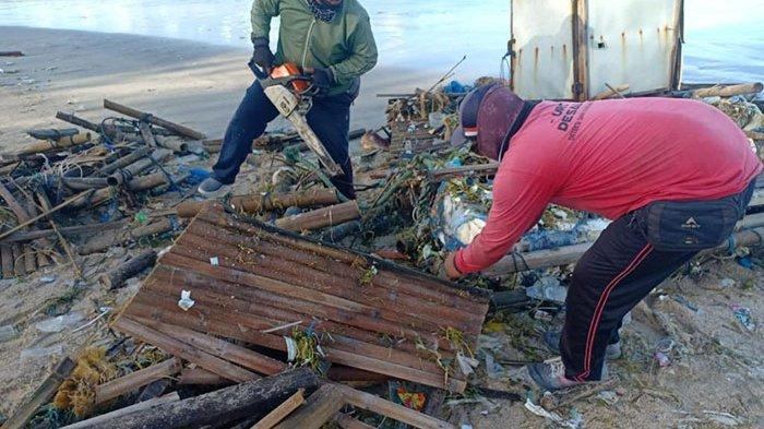 Sampah Kembali Muncul di Sejumlah Pantai Wilayah Badung Hingga 23 Ton, DLHK Turunkan Ratusan Petugas