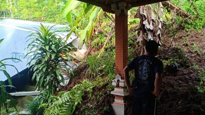 Longsor Hantam Rumah Seorang Lansia di Karangasem, Kerugian Sekitar Rp. 70 Juta
