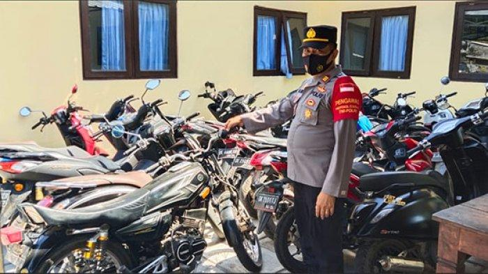 Polisi Amankan Puluhan Motor Modifikasi yang Digunakan untuk Balapan Liar di Karangasem