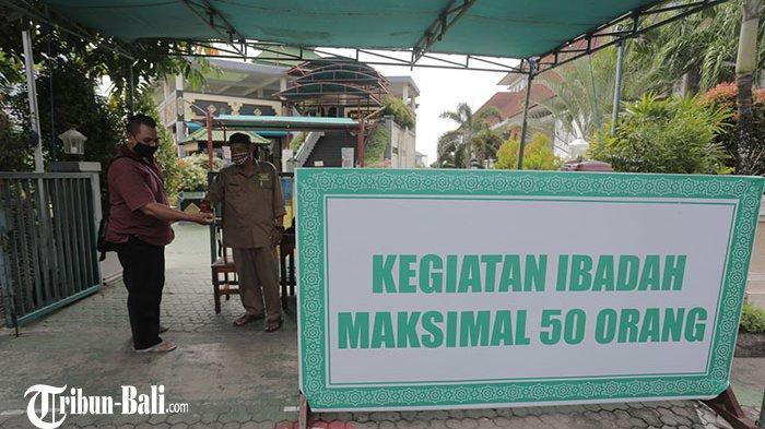 Persiapan Masjid Agung Ibnu Batutah Badung Jelang Ramadhan, Tarawih hanya Boleh Dihadiri 50 Persen