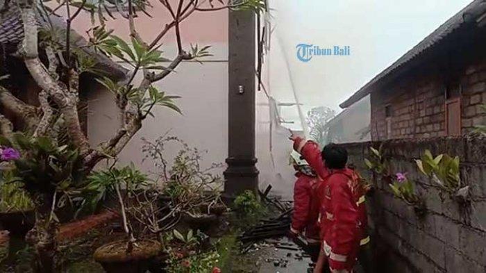 Diduga Berasal dari Dupa Menyala, Sinarta Terkejut Melihat Api Berkobar di Lantai Dua Rumahnya