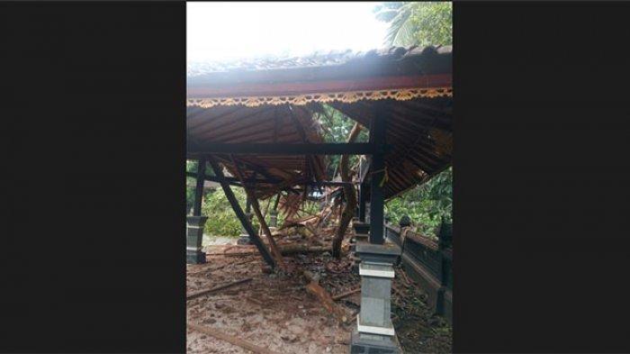 Ditimpa Pohon Kayu Angih Saat Hujan Deras, Pelinggih & Bale Dawe Pura Subak di Pupuan Tabanan Ambruk