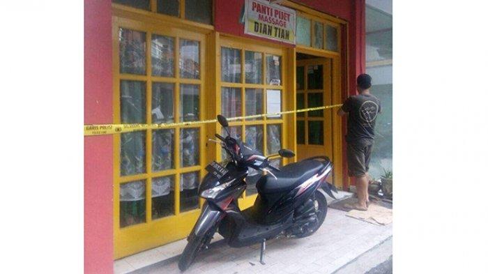 Panti Pijat Dian Tian di Diponegoro Digerebek, Garis Polisi Dipasang