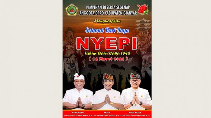 Pimpinan dan Anggota DPRD Kabupaten Gianyar Mengucapkan Selamat Hari Raya Nyepi
