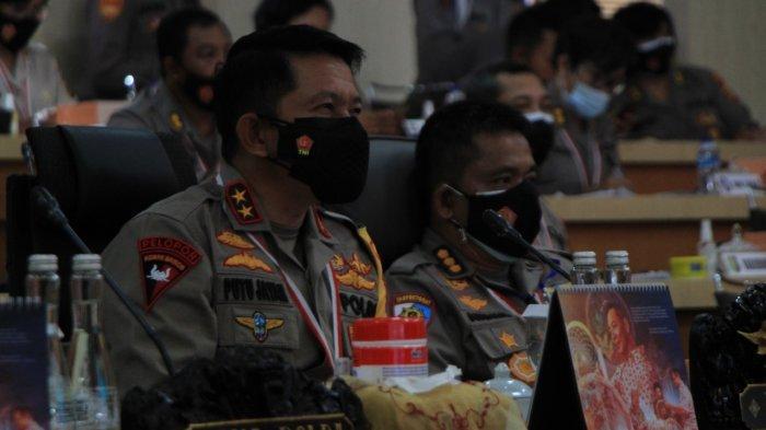 Kapolda Bali Hadiri Penutupan Rapim Polri Tahun 2021, Singgung Soal Penanganan UU ITE Lebih Selektif