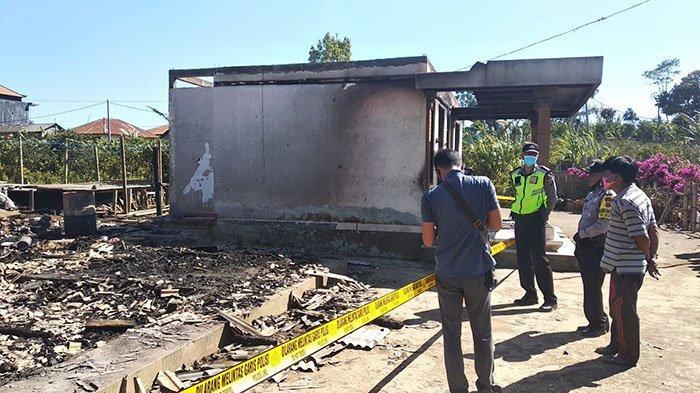 Berawal Lampu Padam, Selanjutnya Ketut Kariasa Kaget Lihat Kobaran Api Membakar Dapur Rumahnya