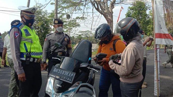 Polres Bangli Periksa 952 Kendaraan Selama Kegiatan Penyekatan Larangan Mudik Lebaran 2021