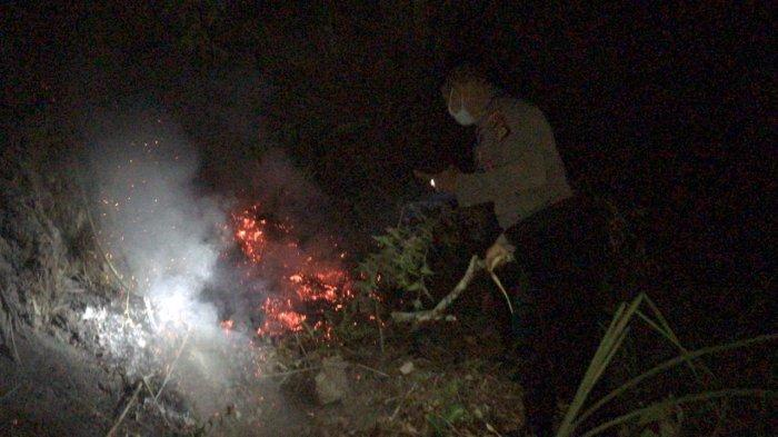 Kawasan Hutan Konservasi Gunung Batur Bukit Payang Kebakaran, Upaya Pemadaman Api Mencapai Enam Jam