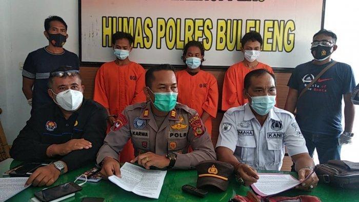 Komplotan Maling Mesin Pompa Air dan Alat Bengkel pada 6 TKP di Sawan Buleleng Dibekuk Polisi