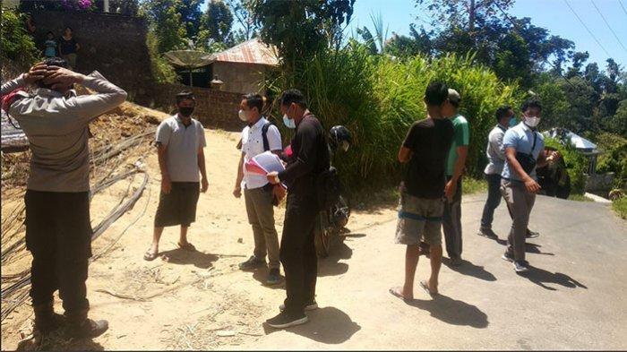 Curi Bahan Bangunan di Lokasi Pembangunan Saluran Air Bersih, Wayan Kiana Diamankan Polsek Kintamani