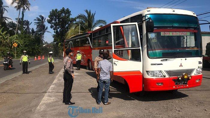 Delapan Pengendara Diminta 'Balik Kanan',Satlantas Polres Tabanan Larang Pemudik menuju Wilayah PSBB