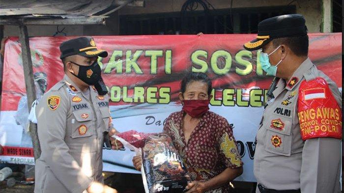 Ringankan Beban Masyarakat Selama PPKM Darurat, Polres Buleleng Bagi-bagi Paket Sembako