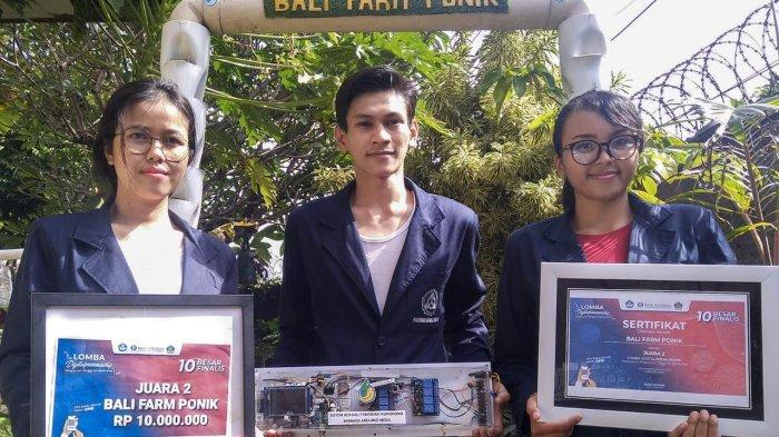 Juara 2 Lomba Digital Preneurship Bali Nusra, Politeknik Nasional Denpasar Usung Ide Bali Farm Ponic