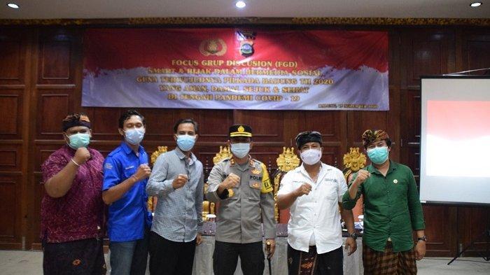 Gelar FGD, Kapolres Badung Ajak Masyarakat Bijak Bermedia Sosial Jelang Pilkada
