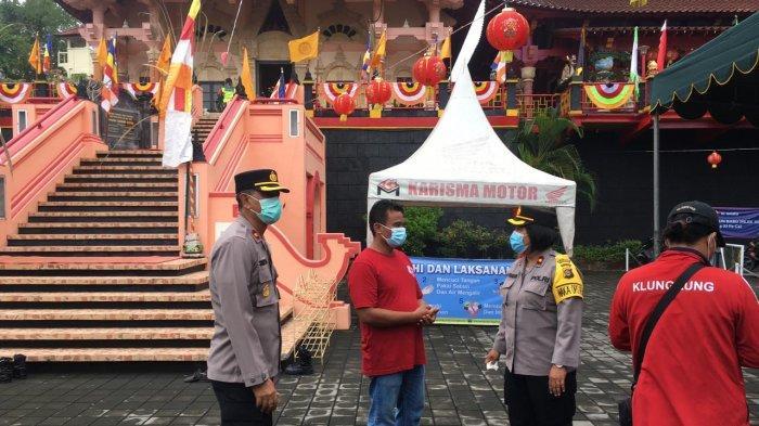 Kepolisian Pastikan Prokes di Vihara Saat Perayaan Imlek, Antisipasi Klaster Covid-19 di Klungkung
